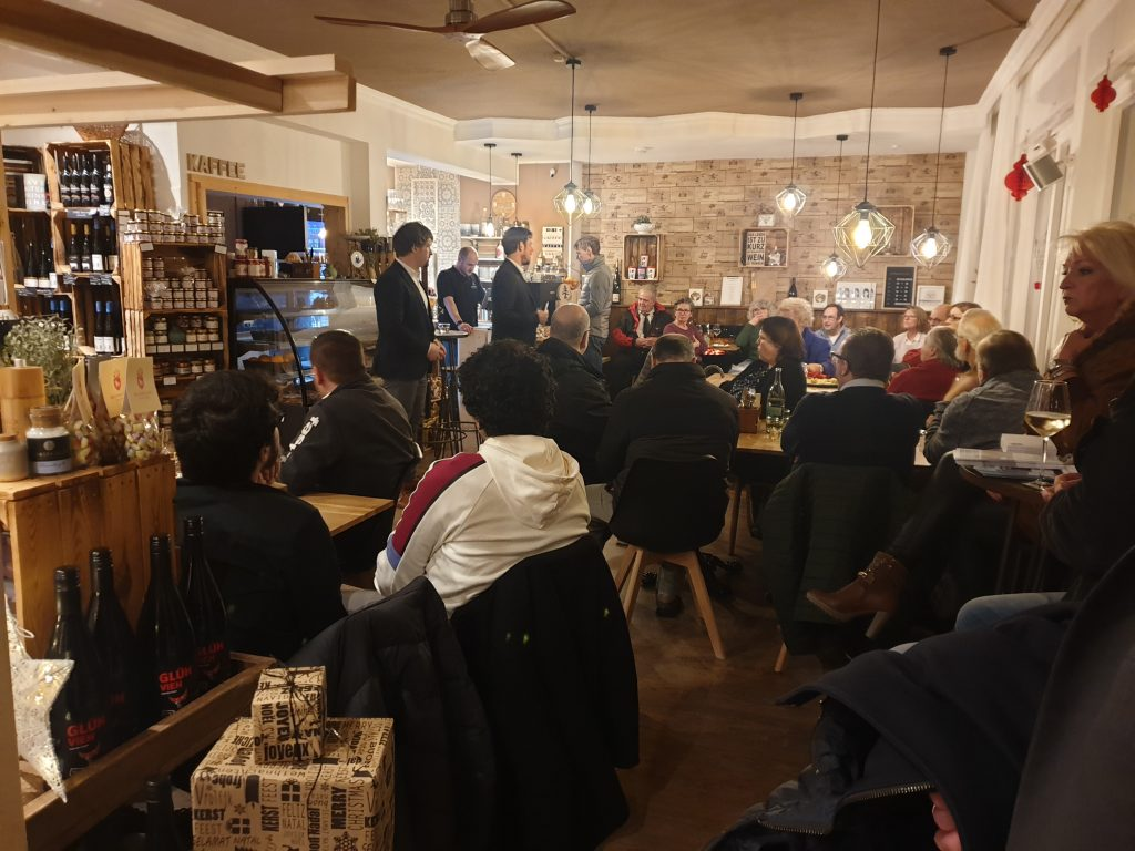 Expertengespräch mit Bürgermeisterkandidat Dennis Seeger und dem Kriminologen Daniel Becker.